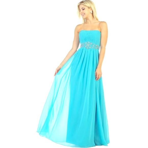 838f36721e Strapless simple prom dress